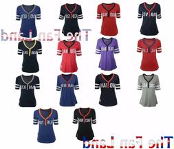 New MLB Women's First Up Retro Vintage Jersey T-Shirt