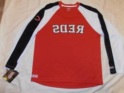 New w/ tags CINCINNATI REDS Embroidered SHIRT / JERSEY by St