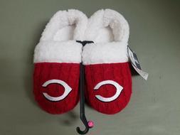 new Womens MLB Cincinnati Reds faux sheepskin slippers