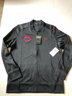 NWT  Cincinnati Reds NIKE Track men's Jacket Medium Black 20