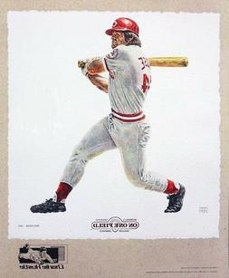 Pete Rose Cincinnati Reds Lithograph By Michael Mellett