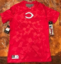 Nike Pro Cincinnati Reds Hypercool Fitted Short Sleeve  Shir