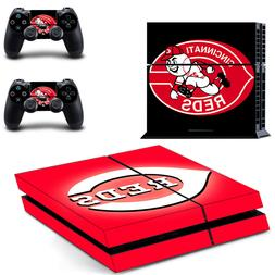 PS4 ORIGINAL - Cincinnati Reds - Vinyl Skin Set + 2 Controll