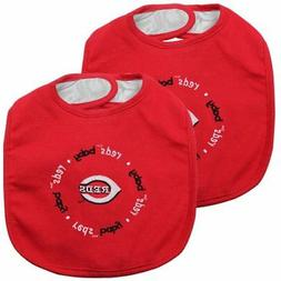 Baby Fanatic Team Color Bibs, Cincinnati Reds, 2-Count