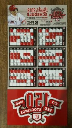TWO 2019 Cincinnati Reds Magnetic Schedule & 150th Anniversa