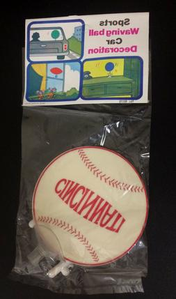 Vintage 1960's Cincinnati Reds Waving Ball Car Decoration in