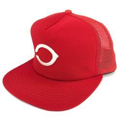 Vintage Cincinnati Reds Mesh Trucker Hat New Era Pro Dupont