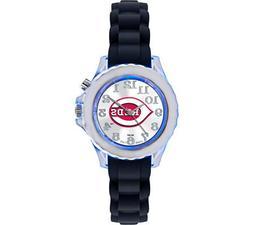 """Game Time Youth MLB-FLB-CIN """"Flash Black"""" Watch - Cincinnati"""
